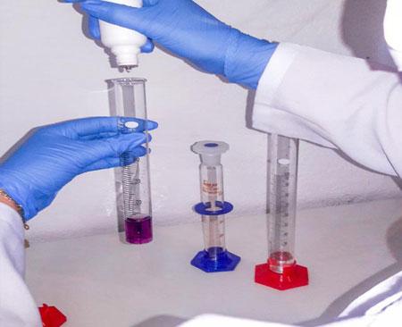 Processo de análise de água industrial